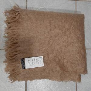 Foxford Mohair, wool, nylon blend throw blanket